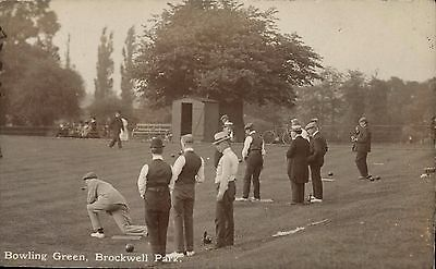 Brockwell Park, Herne Hill. Bowling Green by A.W.Durrell.