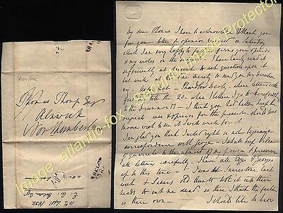 1832 ASTON HALL Letter Edward Anthony Holden with SHARDELOW/109 Mileage postmark