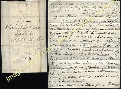1832 Edward Anthony Holden of ASTON HALL, Derby letter re his Wife & Marriage