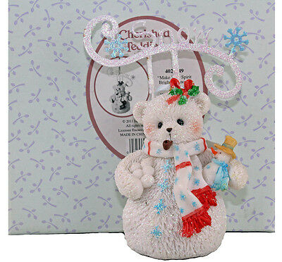 Cherished Teddies Snowbear Christmas Tree Hanging Ornament 4023749 Boxed