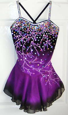 Competition Figure Ice skating dress/Twirling/Dance Tap Costume Outfit Dance
