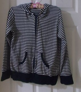 Next Navy Striped Hoodie age 13-14 Nautical Very soft