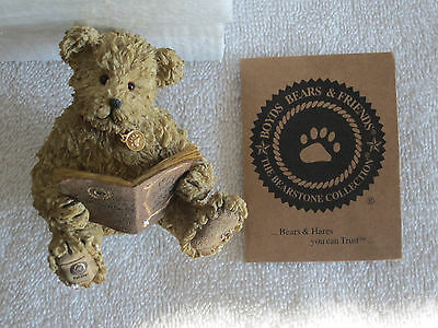 Boyds Bear & Friends / The Bearstone Collection...my Diary..theodore M Bear..nib