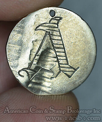 1837 Love Token Engraved A silver On Seated Liberty 10c