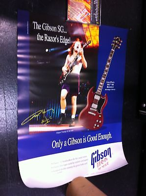 Gibson Angus Young AC/DC SG Guitar 2 sided NOS Poster