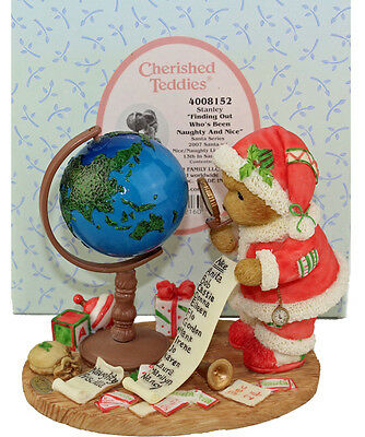 Cherished Teddies Stanley Finding Out Who's Been Naughty and Nice 4008152