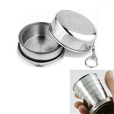 New Stainless Steel Portable Outdoor Travel Folding Collapsible Cup Telescopic