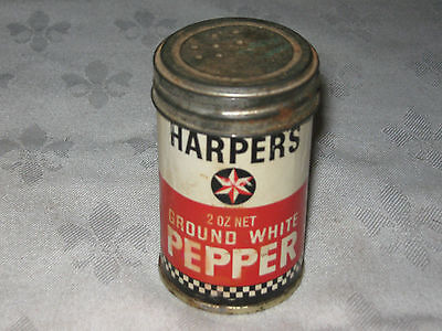 Old Imperial 2 oz Harper's Ground White Pepper Cardboard Cylinder Container