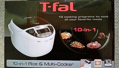 T-fal 10-In-1 Rice and Multicooker, RK705851, 10 Auto Functions - New / Sealed