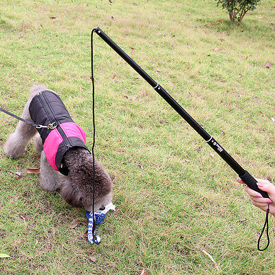 Training Dog Elastic Stick Obey Puppy Target Made Cute Rope Clicker NEW Black S