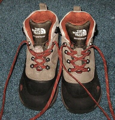 The North Face Waterproof Boots Brown & Black Boys Size 13 NICE