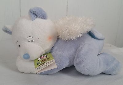 NEW Baby Ganz musical blue white bear angel heavenly melodies plush stuffed toy