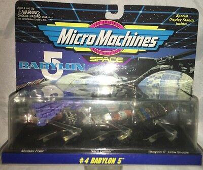 Micro Machines Babylon 5 Galoob 65620 Set #4 1994 NOS Original Packaging Space