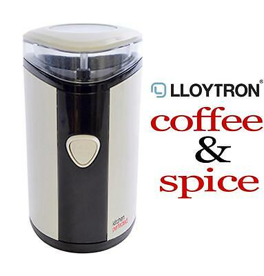 Lloytron 150w 35g Mini Coffee & Spice Electric Grinder - Ivory White NEW MODEL
