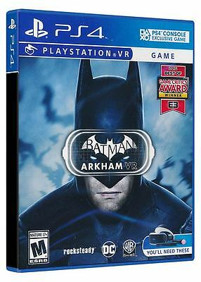 Batman Arkham VR PS4 Playstation VR Game PSVR New & Sealed BOXED PHYSICAL DISC