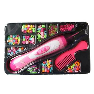 DIY Fashion Hair Beader Toy Set with Comb and Beads for Kids Girls Toy Gift