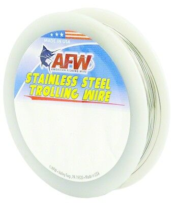 Fishing Line AFW G040-4 SS Trolling 40Lb 7304 Soft Wire 300' .022 Dia
