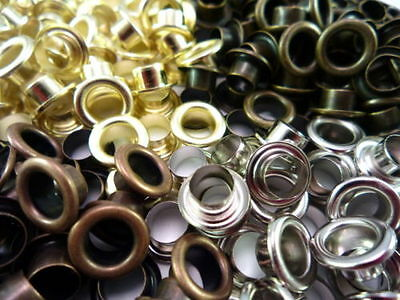 Eyelet With Washer Leather Craft Repair Metal  Grommet 3mm 4mm 5mm 6mm & 8mm
