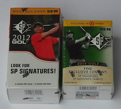 Golf Sp 2012 & 2014 Trading Cards 8 Pack Boxes New & Sealed