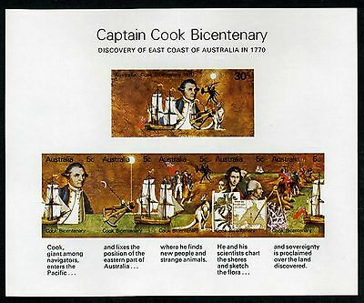 Australia 1970 Cook - Minisheet with Double Spear Variety - MUH