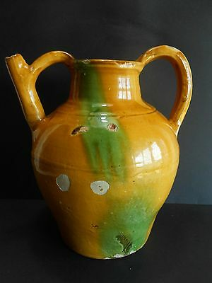 Antique French Pottery Orjol / Jar In Water / Jug / No Confit Pot