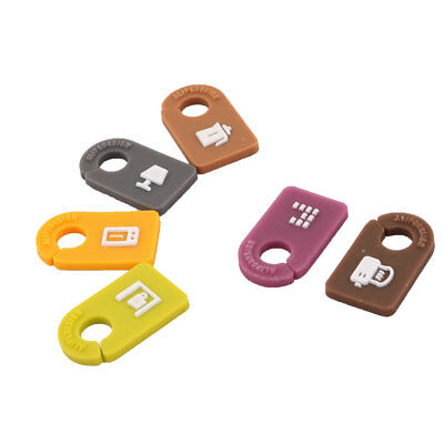 Home Wire Manager Cable Identifier Cord Clips Tag Label Multicolor 6pcs
