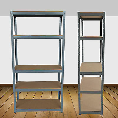1200mm Garage Shelving Heavy Duty 5 Tier Warehouse Unit Storage Shelf Racking