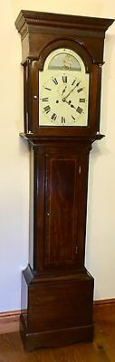 A Mahogany 8 day Grandfather/Longcase Rocking Ship  Corrall &son Lutterworth