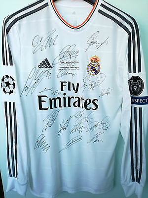 Real Madrid 2014 Champions League Final Signed Shirt By 16 Players !!! Ronaldo