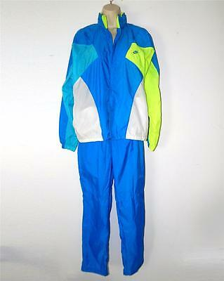S Petite VTG 80s 90s NIKE Windbreaker Nylon Shell Suit Hooded Jacket Pants Neon