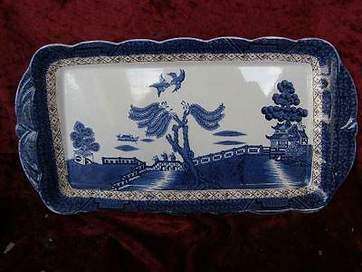 Booths Real Old Willow Large Rectangular Serving Dish A8025 Blue & White China