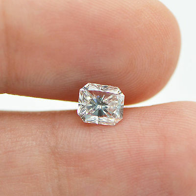 Radiant Cut One - Carat White F VS2 Natural Enhanced Diamond For Solitaire Ring
