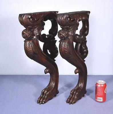 "*22"" French Antique Trim Pieces in Solid Wood Corbels/Pillars/Brackets/Legs"