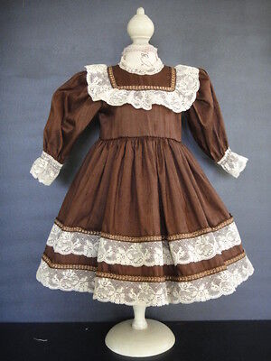 "French Doll Dress - Antique Style for 18-20""doll -Made in France by G.BRAVOT"