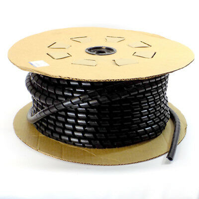 "NEW Thomas & Betts 100 ft. 3/4"" UV Black Polyethylene Spiral Wrap, Forward Cut"