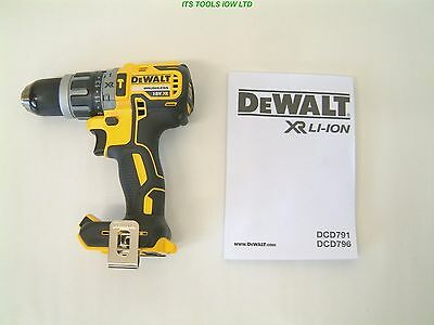 DEWALT DCD796N 18v XR G2 BRUSHLESS COMPACT COMBI DRILL NEW Naked