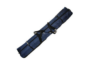 DOUBLE SKI BAG WITH WHEELS - FULLY PADDED - 190cm - BLUE
