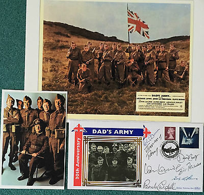 Dads Army Signed Autographed COVER FDC cast Clive Dunn Jimmy Perry Signed x 7