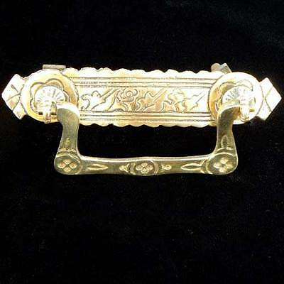 Vintage Antique Victorian Eastlake or Aesthetic Brass Drawer Pull Free Shipping