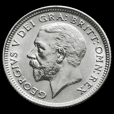 1926 George V Silver Sixpence – Third Coinage – Scarce – A/UNC