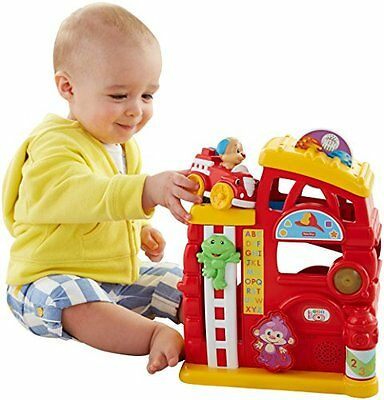 Fisher-Price Laugh & Learn Monkey's Smart Stages Firehouse Learning Toy Set