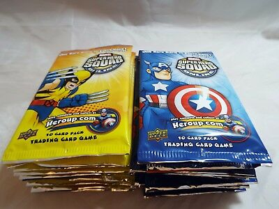Marvel Super Hero Squad Foundation Set Lot Of 20 Sealed Booster Packs
