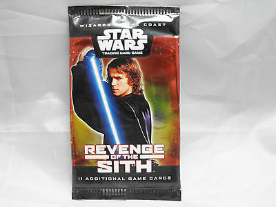 Star Wars Tcg Revenge Of The Sith Sealed Booster Pack Of 11 Cards