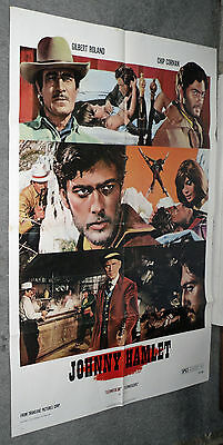 JOHNNY HAMLET original SPAGHETTI WESTERN movie poster CHIP CORMAN/GILBERT ROLAND