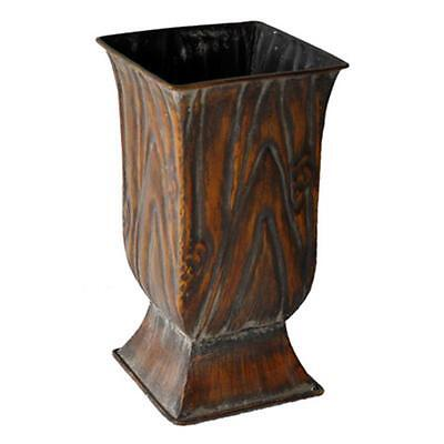 Cheungs FP-4319 Metal 9.5 in. Tall Square Planter 9.5 x 5.25 x 5.25 in.
