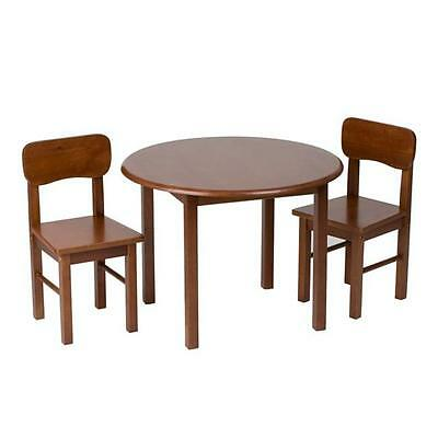 Giftmark 1407C Natural Hardwood Round Table and Chair Set Cherry Finish