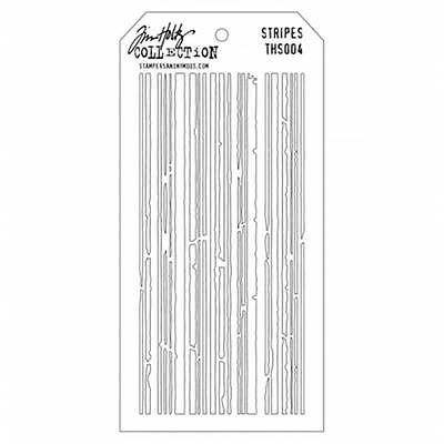 Tim Holtz Layered Stencil 4.125''X8.5''-Stripes