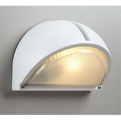 PLC Lighting 1844 WH Outdoor 1 Light Incandescent 60W in White