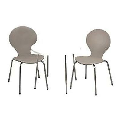 Giftmark 3012G Modern Childrens Table and 2 Chair Set with Chrome Legs Grey