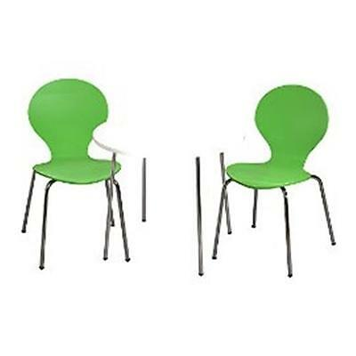 Giftmark 3012GR Modern Childrens Table and 2 Chair Set with Chrome Legs Green